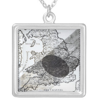 A Map Showing the Passage of  Shadow of the Moon Silver Plated Necklace
