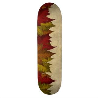 A Maple Leaf Border Skateboard