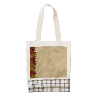 A Maple Leaf Border Zazzle HEART Tote Bag
