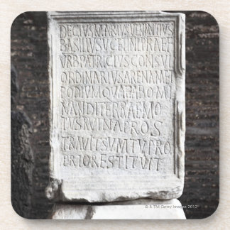 A marble Tablet from inside  The Colosseum or Drink Coaster