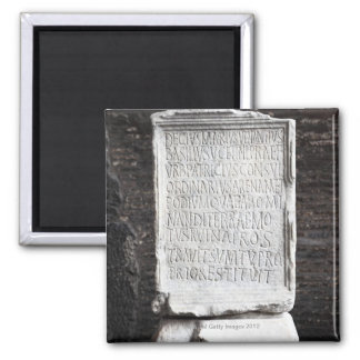 A marble Tablet from inside  The Colosseum or Refrigerator Magnets