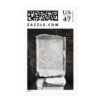 A marble Tablet from inside  The Colosseum or Stamp