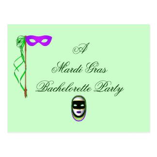 """""""A Mardi Gras Bachelorette Party"""" Postcard"""