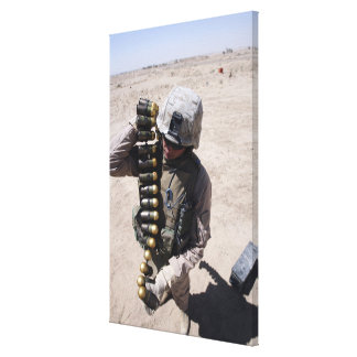 A marine stretched canvas print
