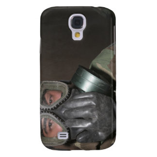 A Marine clears his gas mask Galaxy S4 Case