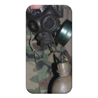 A Marine drinks water from his canteen iPhone 4 Cover