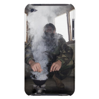 A marine fills the gas chamber with more CS gas Case-Mate iPod Touch Case