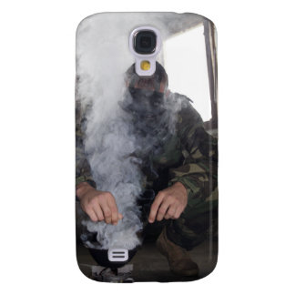 A marine fills the gas chamber with more CS gas Galaxy S4 Case