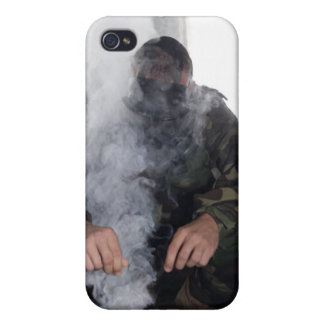 A marine fills the gas chamber with more CS gas Cases For iPhone 4