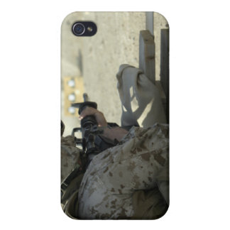 A Marine fires a M16A2 service rifle iPhone 4/4S Cases