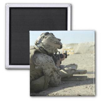 A Marine fires a M16A2 service rifle Magnet