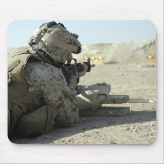 A Marine fires a M16A2 service rifle Mouse Pad