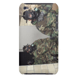 A Marine holds his chest displaying relief Barely There iPod Case