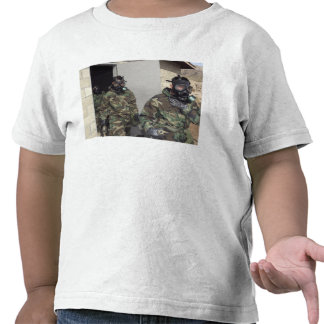 A Marine holds his chest displaying relief Tshirts