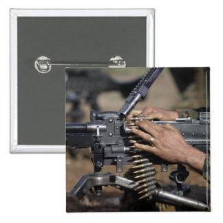 A Marine loads a M-240G machine gun Pinback Button
