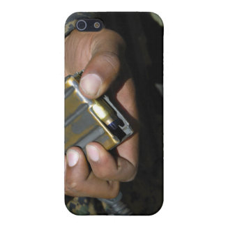 A Marine loads blank ammunition rounds iPhone SE/5/5s Cover