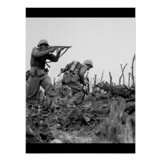 A Marine of the 1st Marine Division _War Image Poster