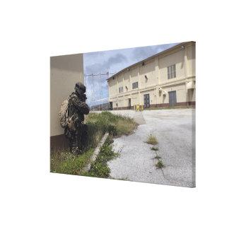 A Marine posts security Canvas Print