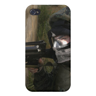 A Marine provides security Cases For iPhone 4