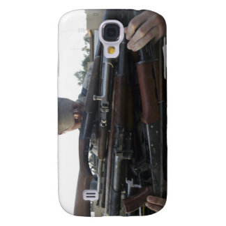 A marine readies 80 pounds of enemy rifles seiz samsung galaxy s4 covers