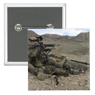 A Marine rifleman provides security Button