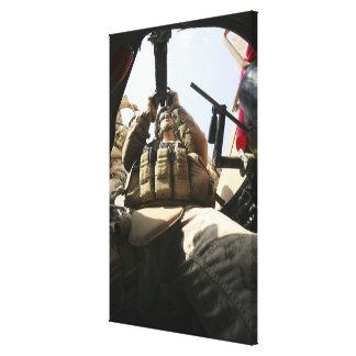 A marine rocks his M-2 50-caliber machine gun Canvas Print