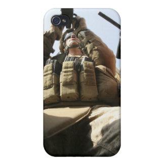 A marine rocks his M-2 50-caliber machine gun iPhone 4/4S Cases