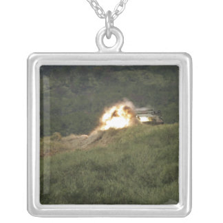 A Marine scores a direct hit Silver Plated Necklace