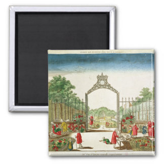 A Market Garden at One of the Gates of Paris 2 Inch Square Magnet