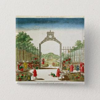 A Market Garden at One of the Gates of Paris Button