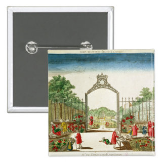 A Market Garden at One of the Gates of Paris 2 Inch Square Button