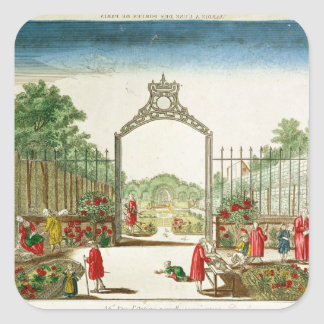 A Market Garden at One of the Gates of Paris Square Sticker