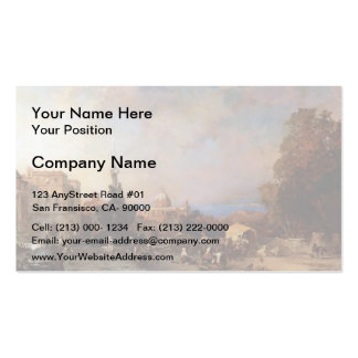 A Market in Naples by Franz Richard Unterberger Business Card Template