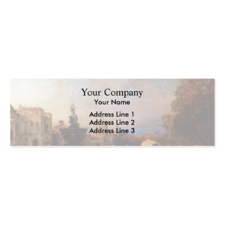 A Market in Naples by Franz Richard Unterberger Business Card Templates