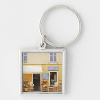 A market street in the old town with a shop keychain