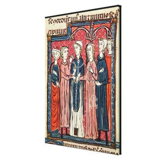 A Marriage, from 'Decrets de Gratien' Canvas Print