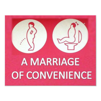 A Marriage of Convenience 4.25x5.5 Paper Invitation Card