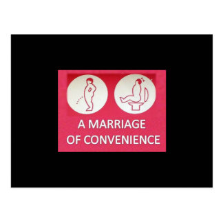 A Marriage of Convenience Postcard