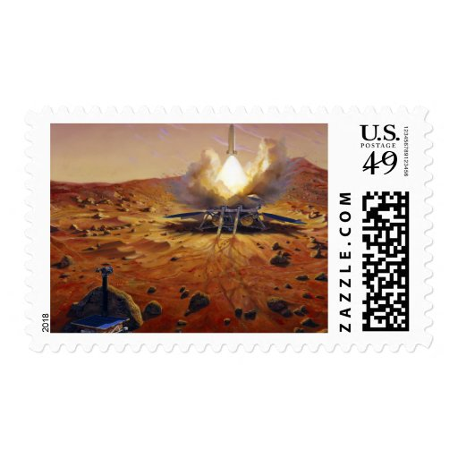 A Mars ascent vehicle Postage Stamp