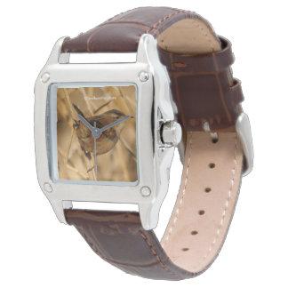 A Marsh Wren in--Where Else?--the Marsh Wrist Watch