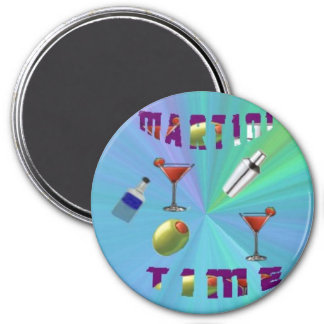 A martini night magnet/coaster 3 inch round magnet