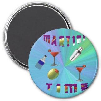 A martini night magnet/coaster magnet