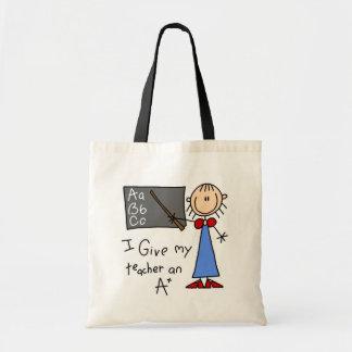 A más profesor bolsa tela barata