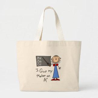 A más profesor bolsa tela grande