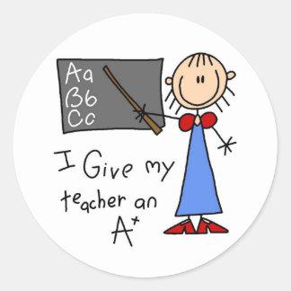 A más profesor etiqueta redonda