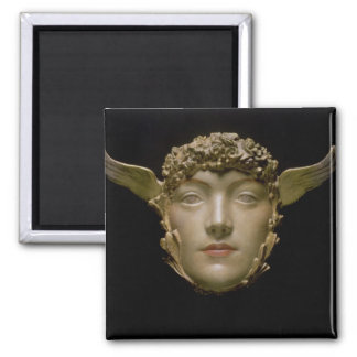 A Mask, c.1897 2 Inch Square Magnet