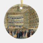 A Masked Ball at the Fenice Theatre, Venice, 19th Ceramic Ornament