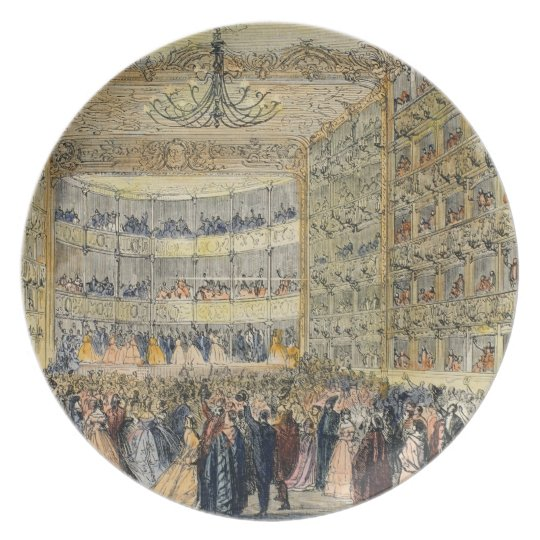 A Masked Ball at the Fenice Theatre, Venice, 19th Dinner Plate
