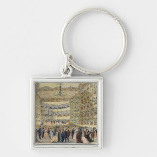 A Masked Ball at the Fenice Theatre, Venice, 19th Keychain