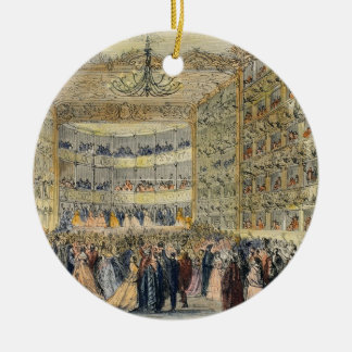 A Masked Ball at the Fenice Theatre, Venice, 19th Christmas Tree Ornaments